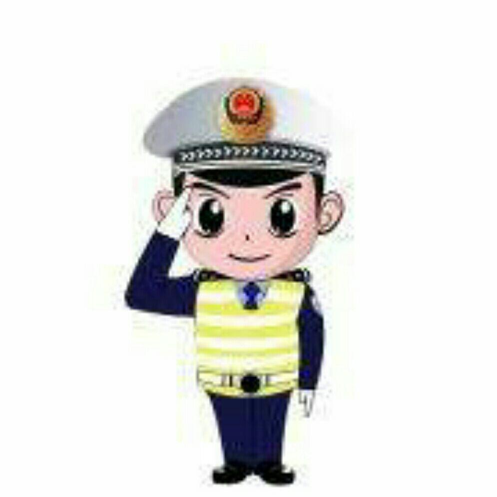 红绿灯警察简笔画