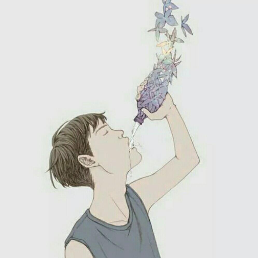 qq头像男生背影卡通_画画大全