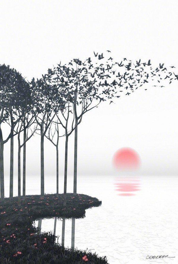 晚安心情语句191010:愿你安睡时山河入梦,愿你醒来时满目春风