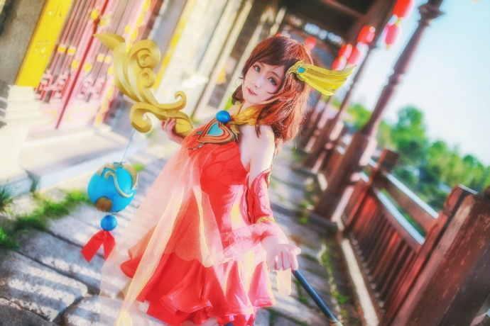 【cos正片】王者荣耀 大乔 守望着天空 大海 和你的回忆 cn:yui金鱼 cosplay-第2张