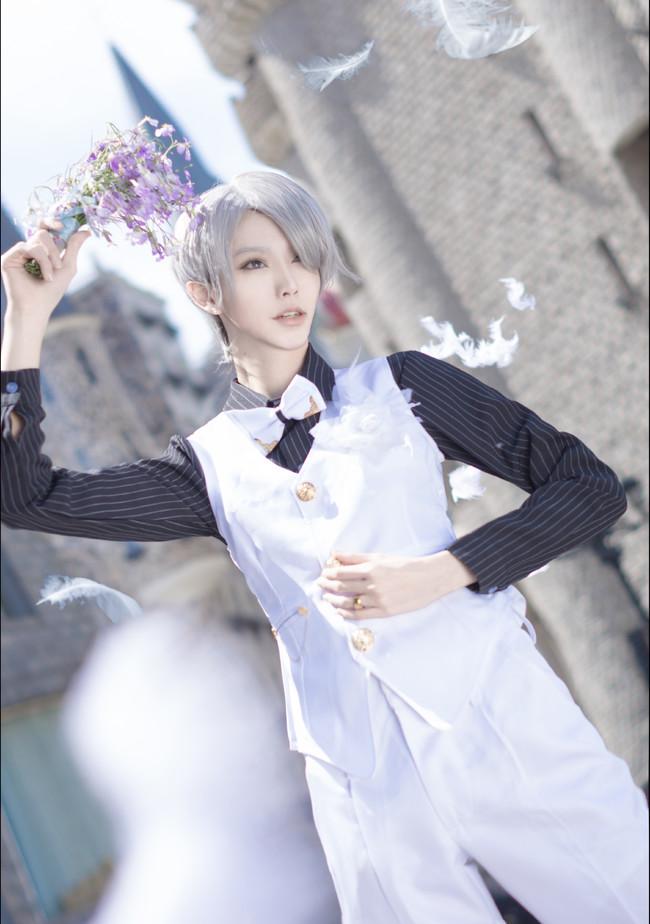 【cos正片】《冰上的尤里》今天你要嫁给我了♡维勇蜜月婚服.avr(误)cn:君子妖Cain cosplay-第4张