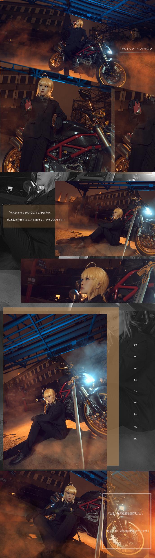 【cos正片】Fate/Zero saber黑西装cos欣赏 cn:寒殇 cosplay-第4张