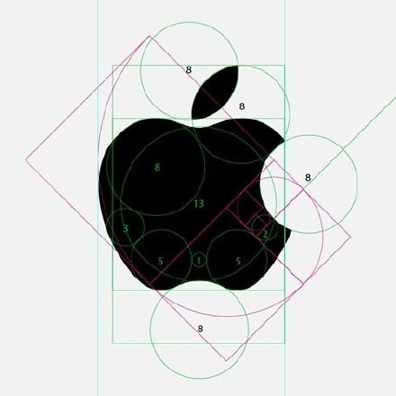 苹果为什么那么屌炸天!你看看人家标志的构图