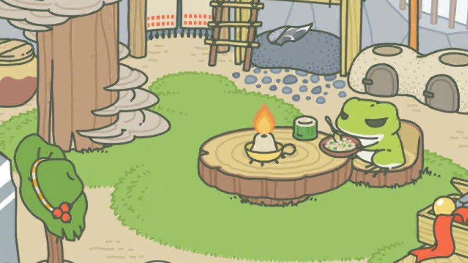 旅かえる 旅行青蛙 中文汉化破解版 最近很火的养青蛙游戏图片 第1张