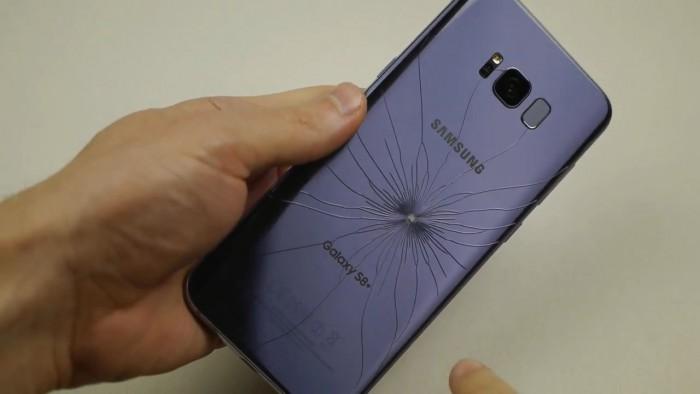 Galaxy S8+刀刺和锤击测试