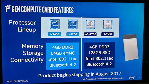 Intel计算卡产品秀:一整套i5塞进一张卡片的照片 - 1