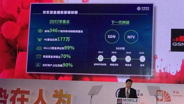 中国移动宣布2018年开始5G规模试验的照片