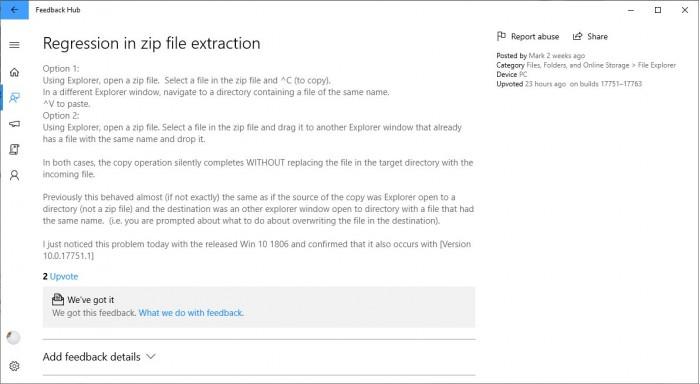 微软解释Win10 v1809文件覆盖Bug:下月发补丁的照片 - 3