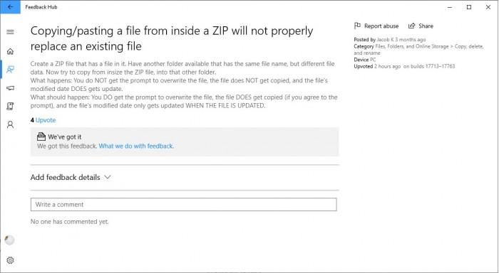 微软解释Win10 v1809文件覆盖Bug:下月发补丁的照片 - 4