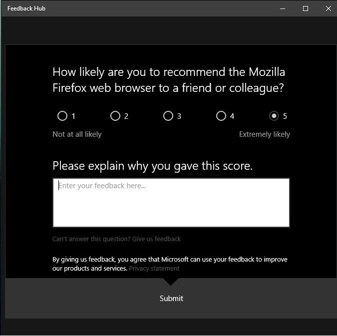 Win10反馈中心开始关注非微软产品的用户体验的照片 - 2