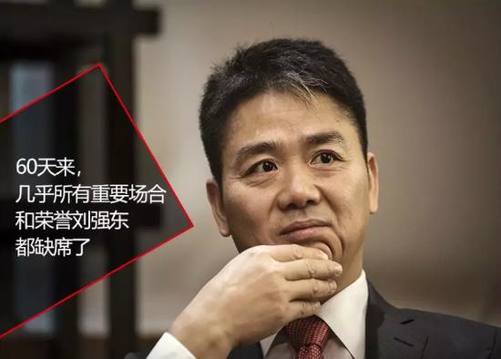 刘强东失声60天的照片 - 1