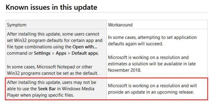 微软承认Win10更新导致Media Player拖动条无法使用的照片 - 2