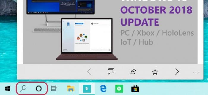微软在Win10上引入了单独的搜索和Cortana选项的照片 - 2