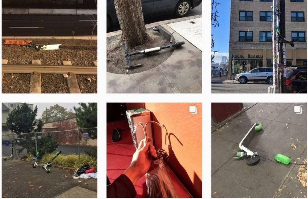 愤怒的美国老铁把共享电动滑板车抛进了大海的照片 - 10