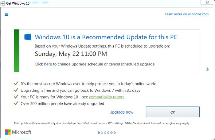 """微软将再次向Win7用户推送""""获取Win10""""通知的照片"""