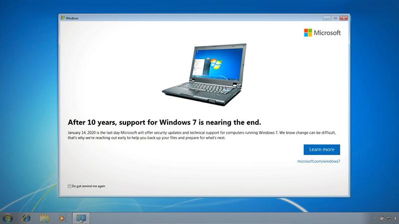 Win7获KB4493132更新:通知你该升级了
