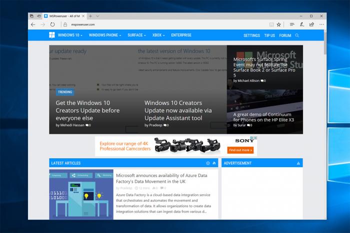 基于Chromium的微软Edge浏览器在Win7上也运行良好