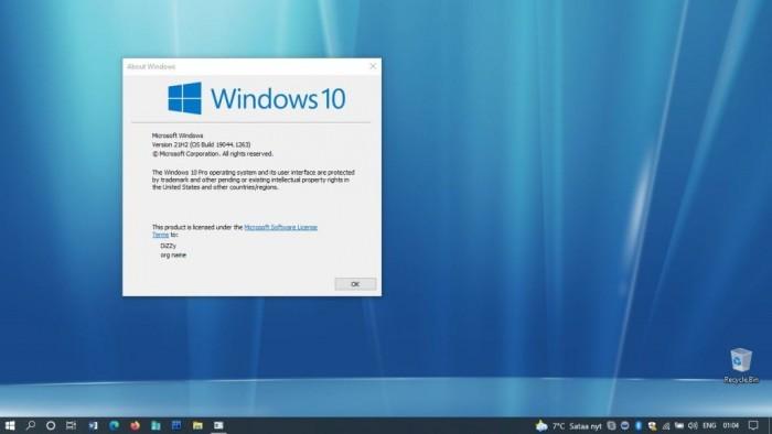 Win10 21H2有望10月下旬发布 版本初步锁定19044.1263