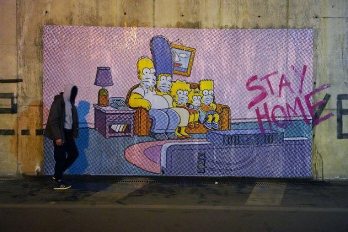 全球新冠肺炎疫情下世界各地的街头涂鸦艺术插图2