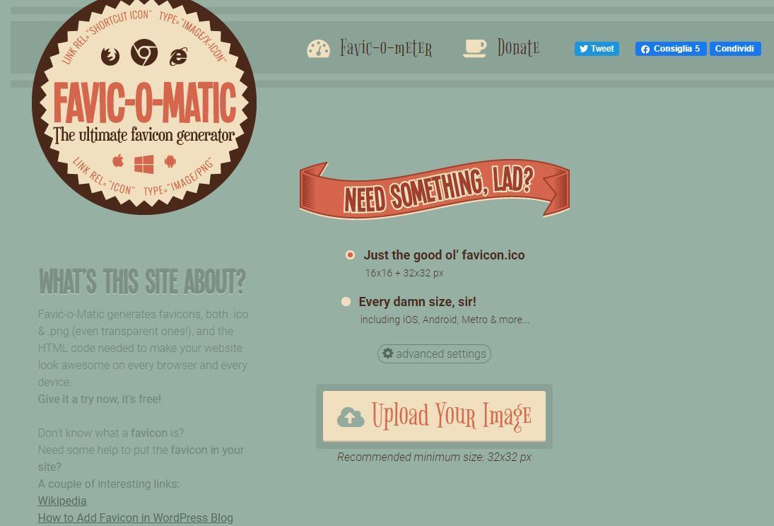 Favic-o-Matic:快速裁切、制作各种尺寸大小的网站图标插图