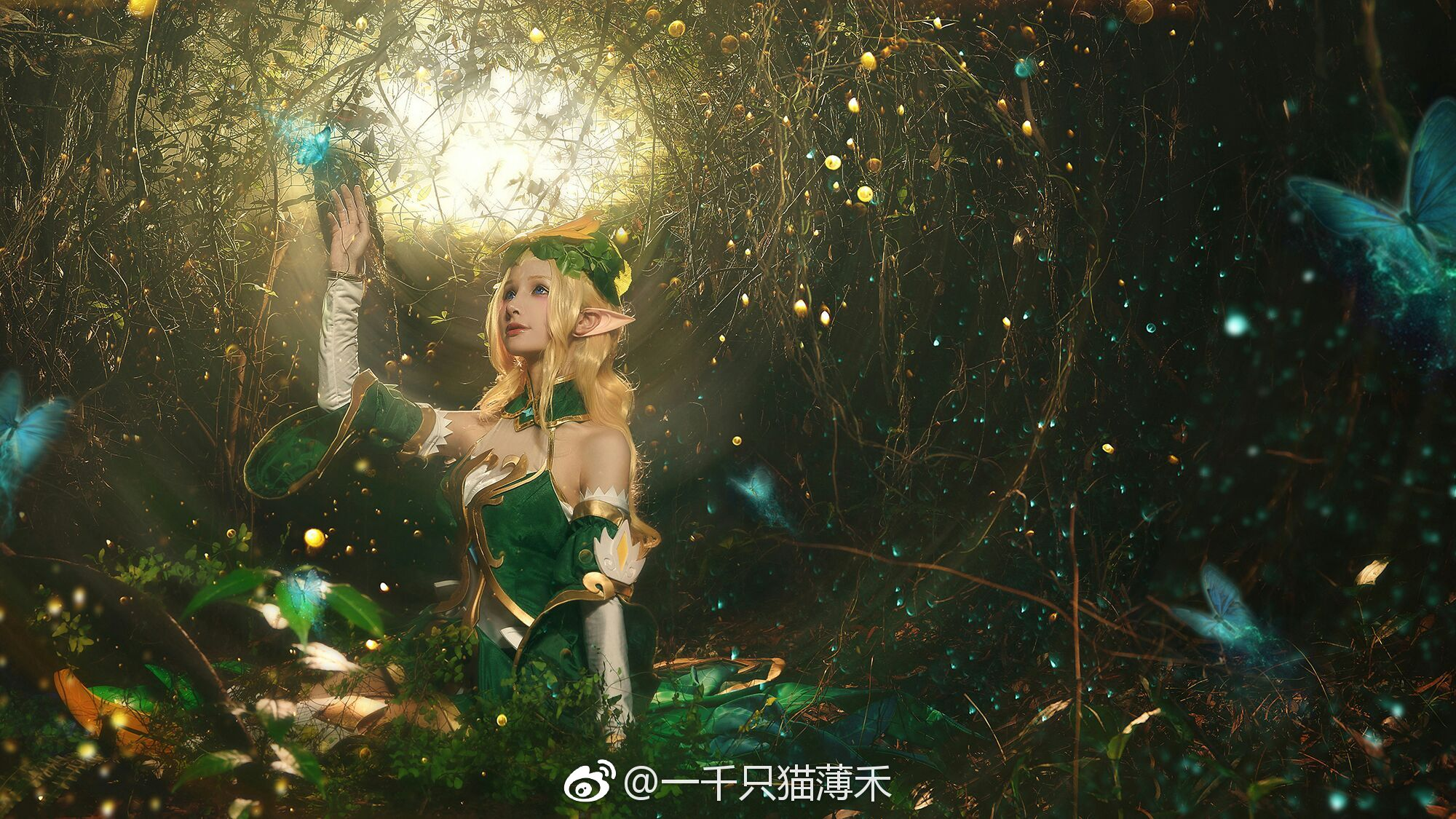 【cos正片】王者荣耀 王昭君精灵公主cos欣赏 cn:一千只猫薄禾 cosplay-第3张