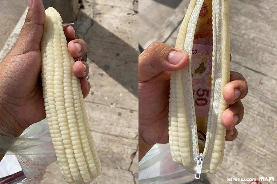 防窃新招?他「手握玉米」翻背面网友全惊〖呆:太逼真了!