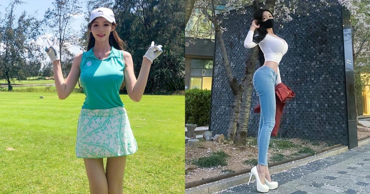 高尔夫球场「美腿辣妹」展现超棒视角!完美身材曲线好迷人喔