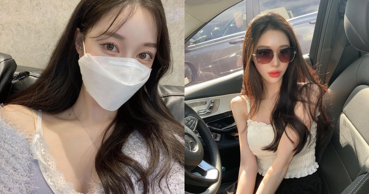 韩国网红 쥬 쥬 戴着口罩也好美,IG的惹火辣照真是太美好了!