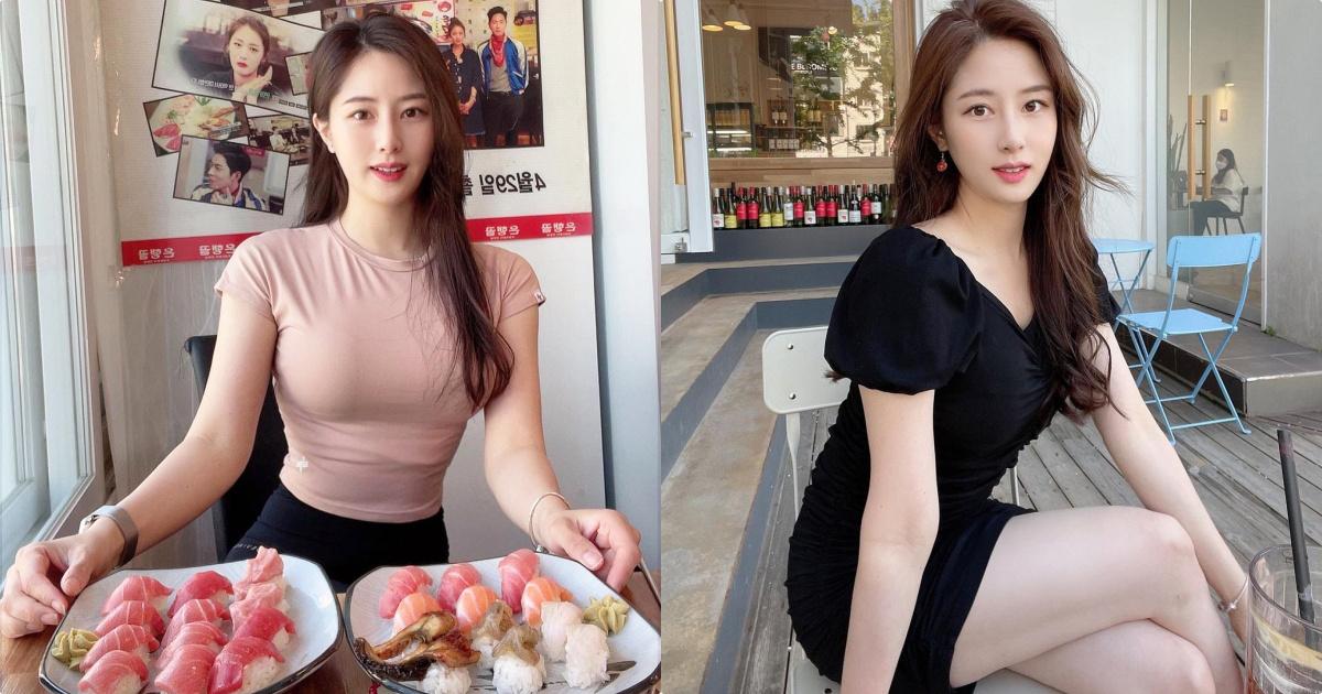 吃满满生鱼片的健身正妹유 라 리,懂吃果然身材超赞的!