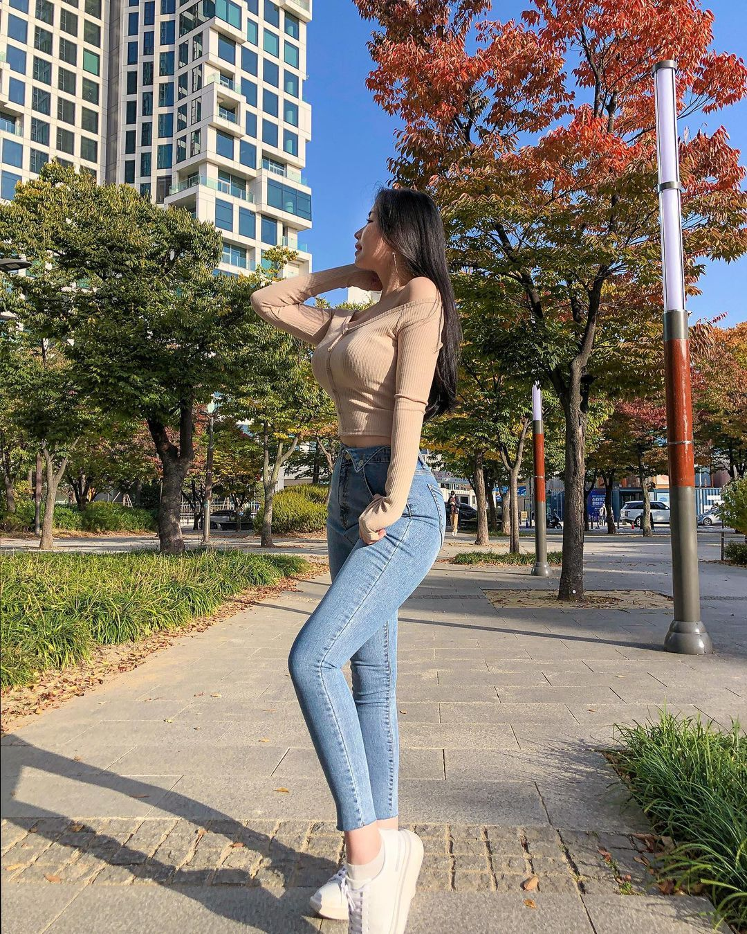 清凉穿着自己卖 [韩国泳衣阙娘Yebin]亲自试穿性感度满点 养眼图片 第31张