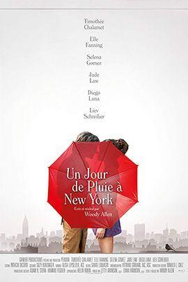 纽约的一个雨天的海报