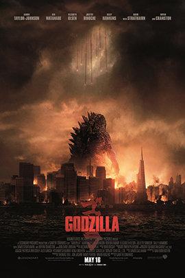 哥斯拉2014的海报