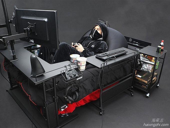 Bauhutte推出的肥宅游戏床_3