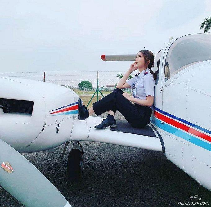 Astro国际华裔小姐的8强佳丽,大马超正女飞机师Cecilia方歆儿_7