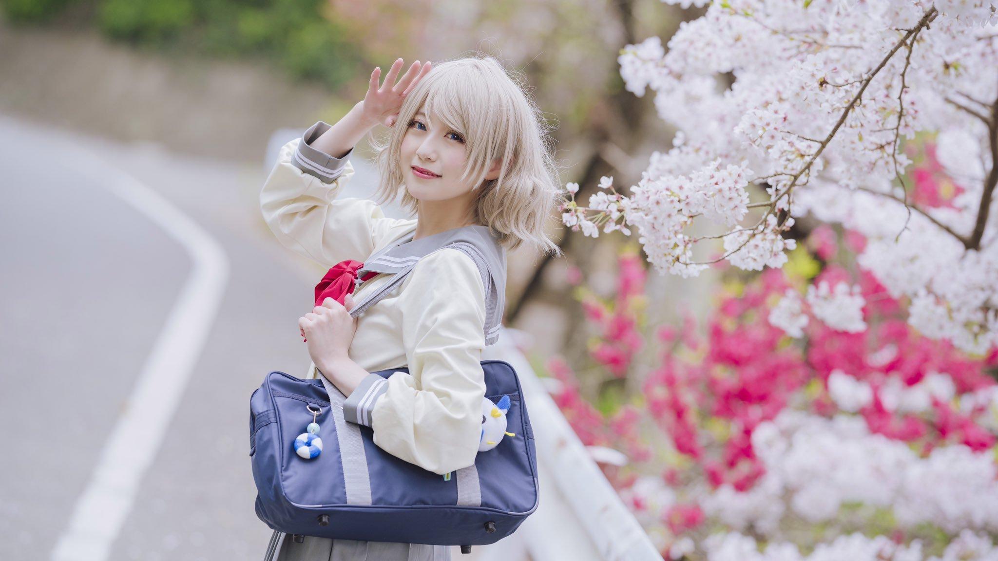 樱花满开 妹子添香-COS精选樱花特辑 动漫漫画 第3张