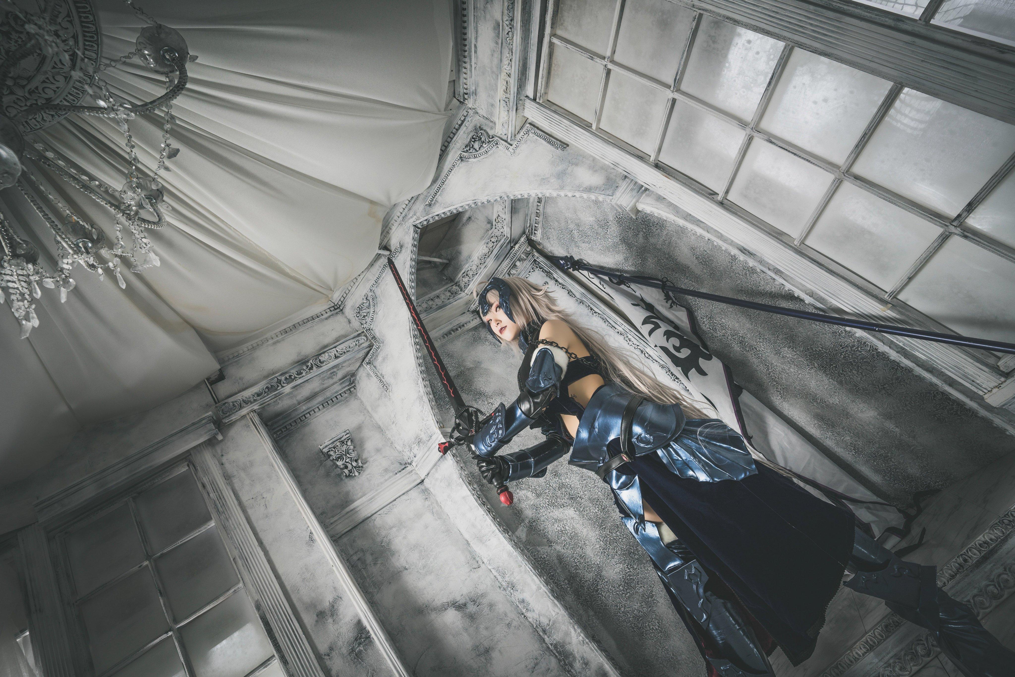 国风韶华绿毛红灯 班长猫耳腿白裤黑-COS精选二百二十五弹 动漫漫画 第13张