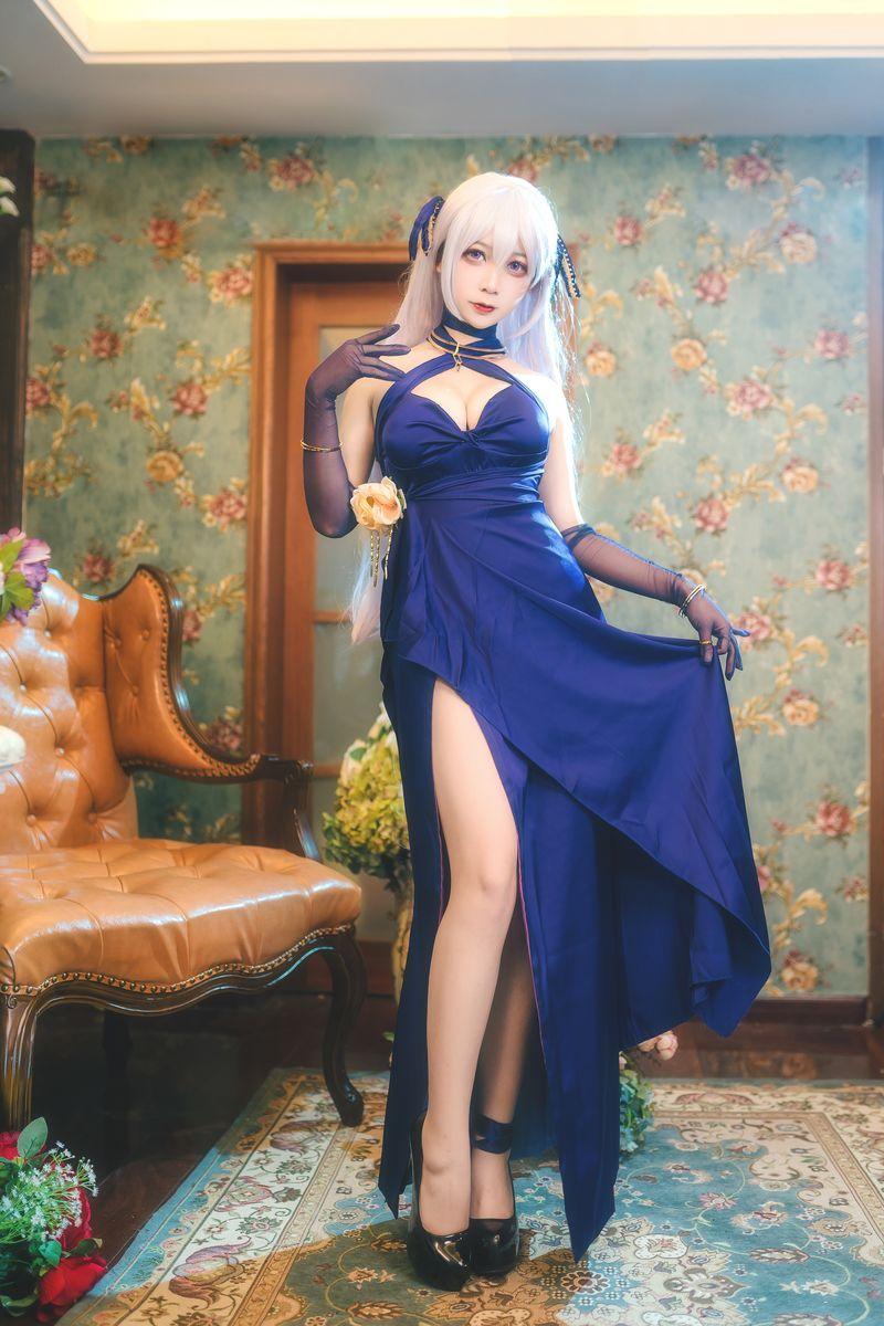 大胸长腿女仆长-《碧蓝航线》贝尔法斯特礼服装COS  动漫漫画 第8张