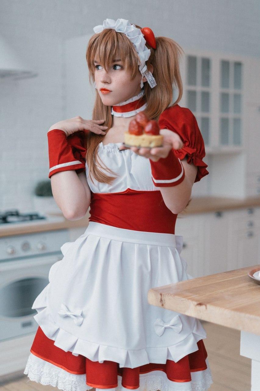 Shirogane-sama 红色女仆装_2021060923_08