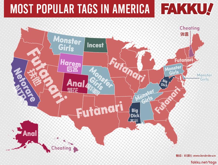 美国佬最爱扶他-欧美最大变态漫画网站公布全美最热门标签
