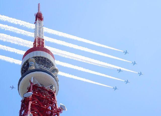 蓝色脉冲飞行表演队 感谢飞行 东京都