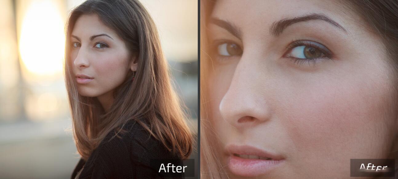 Retouch4me 6套合集 AI人工智能美容润饰中性灰均匀肤色清洁背景_AI磨皮动作 _效果图7