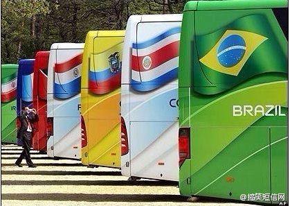 世界杯32强大巴车身激励语,中国队紧跟