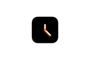 简黑时钟 For Mac V1.4 一款极致省电及自定义全屏时钟工具