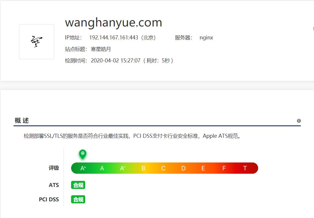 网站HTTPS评级从A提升至A+