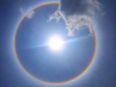 北京上空出现日晕预示着什么?古人说日晕是不祥之兆