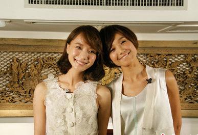 朱丹与王珞丹同母异父的姐妹,血缘关系让她们都很美