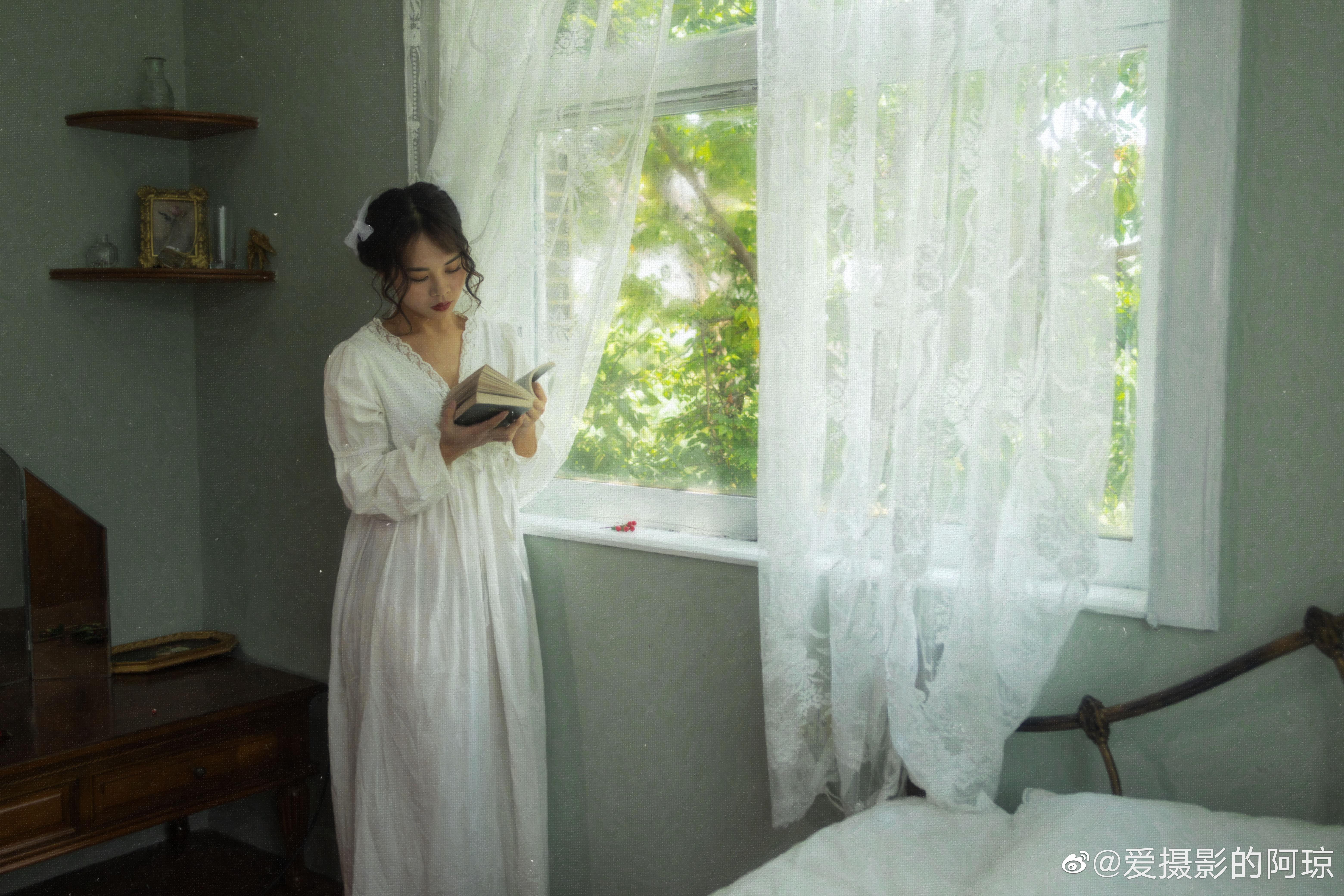 公主日记少女心事广州约拍少女写真摄影油画...美女