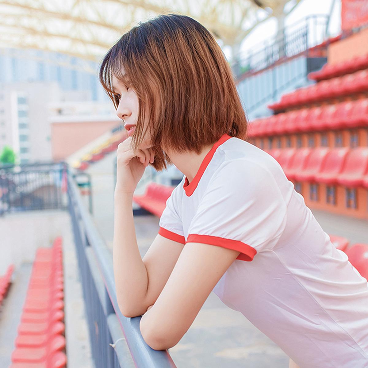 [风之领域] NO.132 体操服少女的过膝白丝