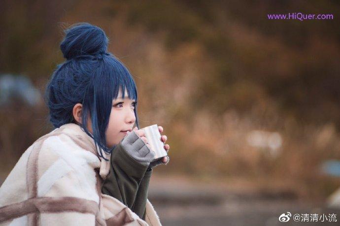 现实也有这么可爱的妹子露营吗,日本女coser《摇曳露营》高还原度野外cosplay 涨姿势 第7张