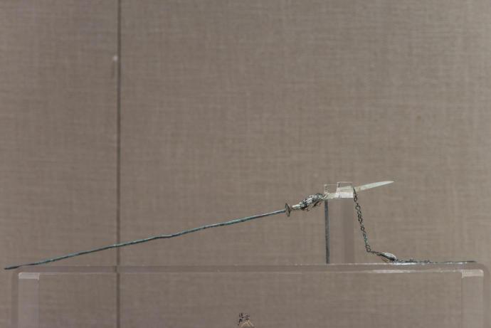 张掖市博物馆藏· 明代玉首铜凤簪